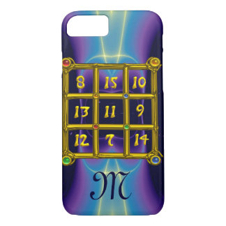 MAGIC SQUARE 33 MONOGRAM Teal, Aqua Blue Purple iPhone 7 Case