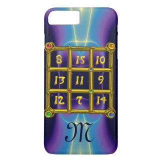 MAGIC SQUARE 33 MONOGRAM Teal, Aqua Blue Purple iPhone 8 Plus/7 Plus Case