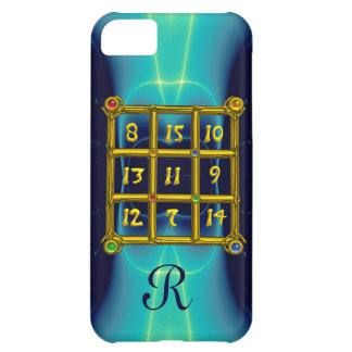 MAGIC SQUARE 33 MONOGRAM  Teal, Aqua Blue Turquase Case For iPhone 5C