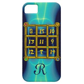 MAGIC SQUARE 33 MONOGRAM  Teal, Aqua Blue Turquase iPhone SE/5/5s Case