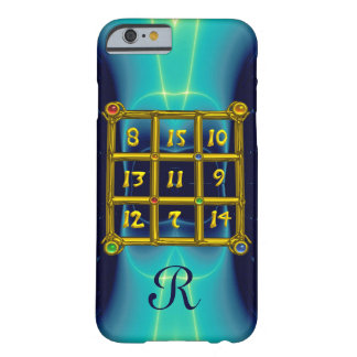 MAGIC SQUARE 33 MONOGRAM  Teal,Aqua Blue Turquoise Barely There iPhone 6 Case