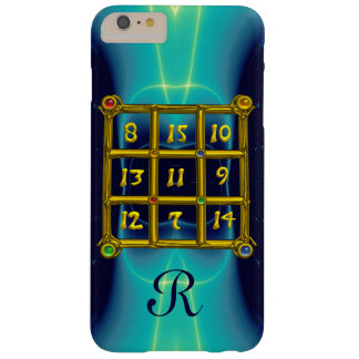 MAGIC SQUARE 33 MONOGRAM  Teal,Aqua Blue Turquoise Barely There iPhone 6 Plus Case