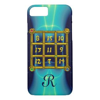 MAGIC SQUARE 33 MONOGRAM  Teal,Aqua Blue Turquoise iPhone 8/7 Case