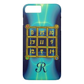 MAGIC SQUARE 33 MONOGRAM  Teal,Aqua Blue Turquoise iPhone 8 Plus/7 Plus Case