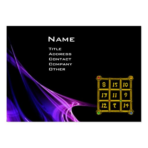 MAGIC SQUARE 33 , Pink Blue Black Large Business Cards (Pack Of 100)