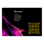 MAGIC SQUARE 33 , Pink Purple Black Large Business Cards (Pack Of 100)