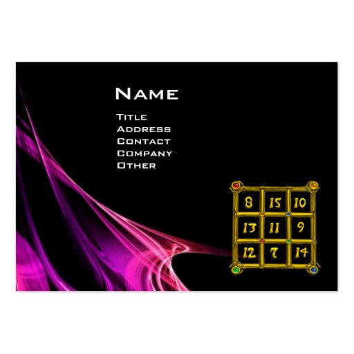 MAGIC SQUARE 33 , Pink Purple Black Business Card Template