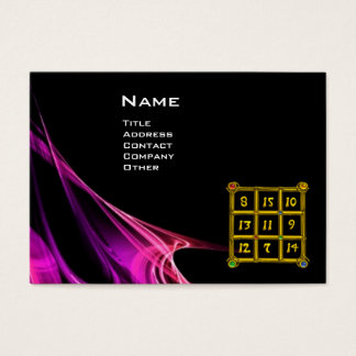 MAGIC SQUARE 33 , Pink Purple Black Business Card