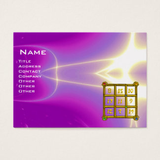 MAGIC SQUARE 33 , Pink ,Violet Purple Business Card