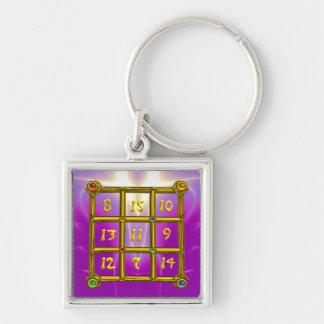 MAGIC SQUARE 33 , Pink Violet Purple Keychain