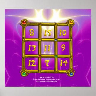 MAGIC SQUARE 33 , Pink Violet Purple Poster