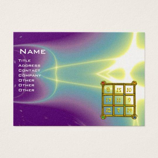 MAGIC SQUARE 33 , Purple Blue, Pearl Paper Business Card
