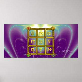 MAGIC SQUARE 33 , Purple Blue Poster