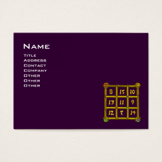 MAGIC SQUARE 33 ,Purple Business Card