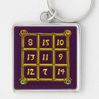 MAGIC SQUARE 33 , Purple Keychain