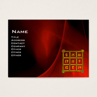 MAGIC SQUARE 33 , Red Black Business Card