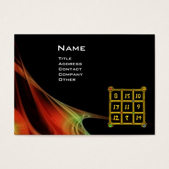 MAGIC SQUARE 33 , Red Green Black Business Card