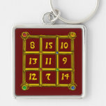 MAGIC SQUARE 33 , Red Keychain
