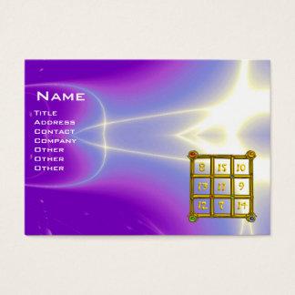MAGIC SQUARE 33 , Violet Purple Business Card