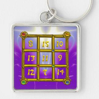 MAGIC SQUARE 33 , Violet Purple Keychain