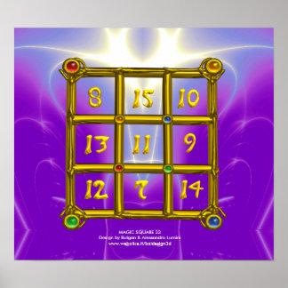 MAGIC SQUARE 33 , Violet Purple Poster