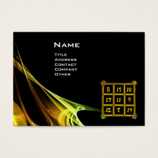 MAGIC SQUARE 33 , Yellow Brown Black Business Card