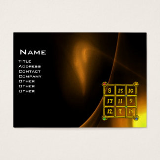 MAGIC SQUARE 33 , Yellow Brown Black Business Card