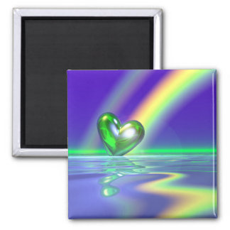 Magic St. Patrick's Day Heart 2 Inch Square Magnet