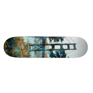 Magic Sunset Bridge Blue_orange Skate Board Deck