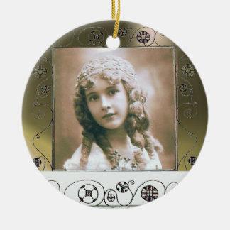 MAGIC SWIRLS PHOTO TEMPLATE ,Grey Agate Ceramic Ornament