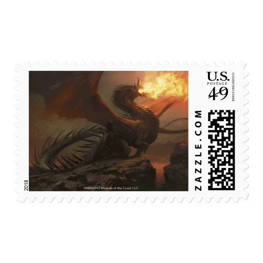 Magic: The Gathering - Flameblast Dragon Stamp