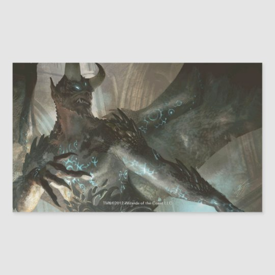 Magic: The Gathering - Rune-Scarred Demon Rectangular Sticker