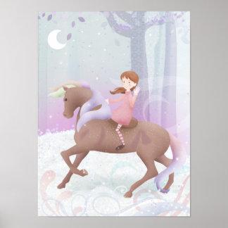 Magic the pony poster print