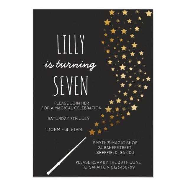 Magic themed birthday party invitation Zazzlecom