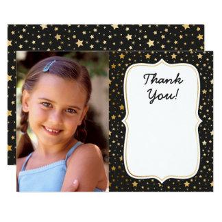 Magic themed photo birthday thank you card