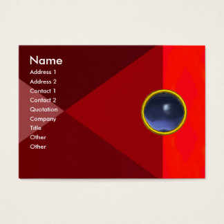 MAGIC TOPAZ  , bright vibrant red pink blue Business Card