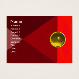 MAGIC TOPAZ  , bright vibrant red pink yellow Business Card