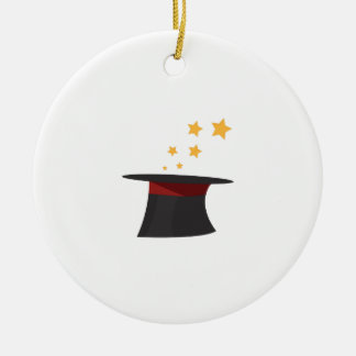 Magic Tophat Double-Sided Ceramic Round Christmas Ornament