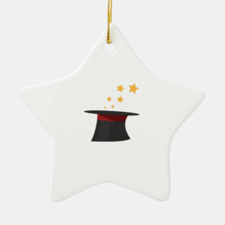 Magic Tophat Double-Sided Star Ceramic Christmas Ornament
