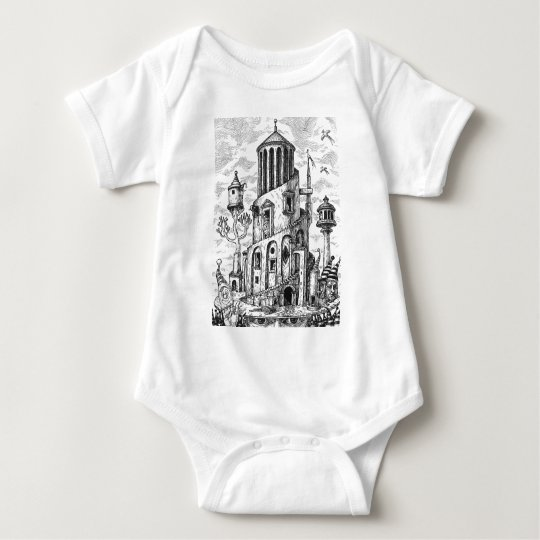 Magic tower on hat baby bodysuit