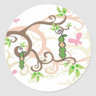 Magic Tree & Baby Girl Gift Favor Label / Sticker