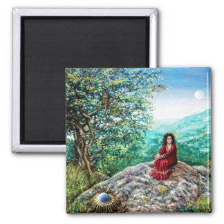 MAGIC TREE / Dawn In Green Wood and Lady in Red Magnet