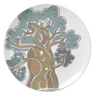 magic tree dinner plate