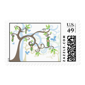 Magic Trees Pea In A Pod Boy Baby Shower Stamps