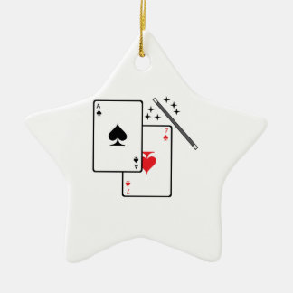 Magic Trick Ceramic Ornament