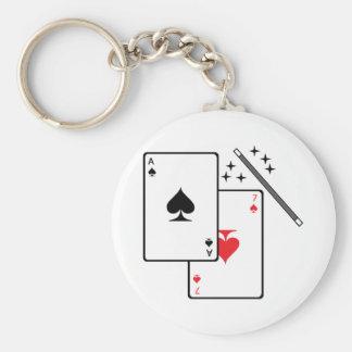 Magic Trick Basic Round Button Keychain