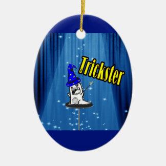 Magic trickster monster ceramic ornament