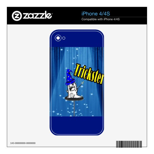 Magic trickster monster iPhone 4 decal