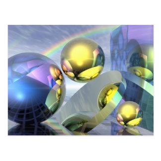 Magic under the rainbow postcard