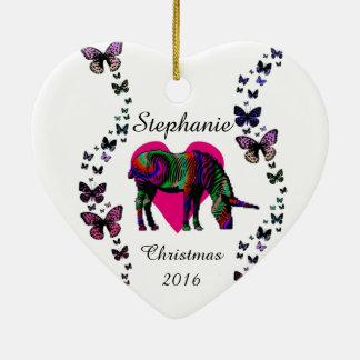 Magic Unicorn Butterfly Love Custom Ornament
